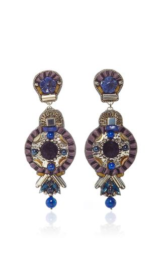 Medium ranjana khan black black lapis brass earrings