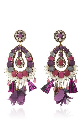 Medium ranjana khan purple amethyst lilac pearl earrings