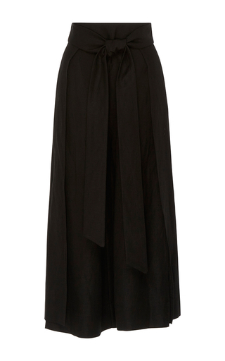 Medium alix black high rise wrap culottes