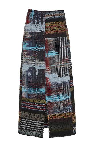 Medium tome multi tweed midi skirt