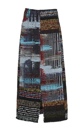 Medium tome multi tweed midi skirt