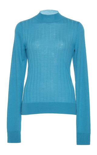 Medium tome turquoise merino silk cashmere pullover