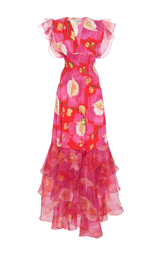 Medium isolda floral pri tiered ruffle dress