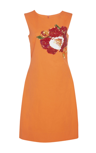 Medium isolda orange embroidered sofie sleeveless dress