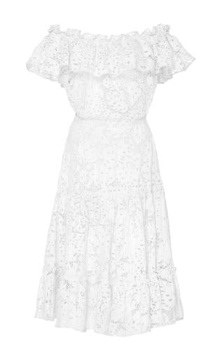 Medium isolda white lace santo domingo dress