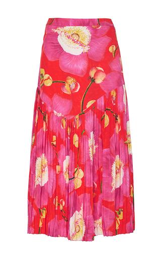 Medium isolda floral leticia pleated midi skirt