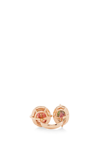 Tourmaline Rubellite Fancy Diamond Ring by WENDY YUE Now Available on Moda Operandi
