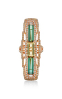 Tourmaline And Yellow Beryl Ring by WENDY YUE Now Available on Moda Operandi