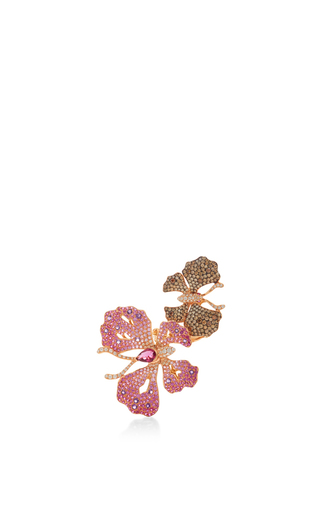 Medium wendy yue red amethyst and rubellite butterfly ring