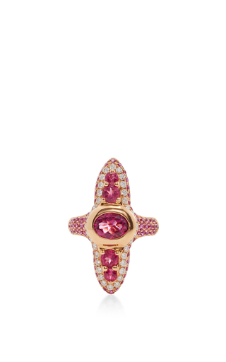 Medium wendy yue red rubellite and red sapphire ring