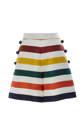 Medium carolina herrera multi high rise striped mini shorts