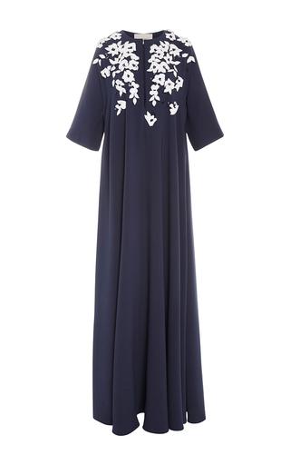 Medium carolina herrera floral slit neck floral caftan dress