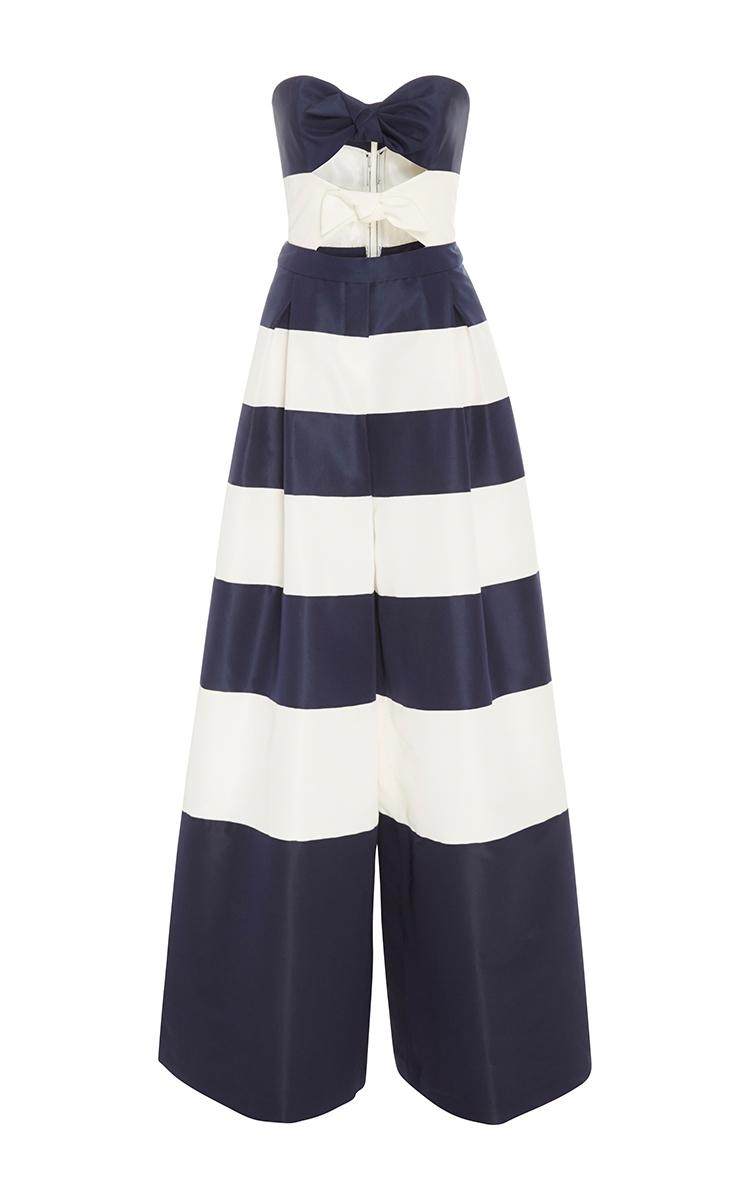 afa73ac9b7e3 Striped Wide Leg Jumpsuit by Carolina Herrera