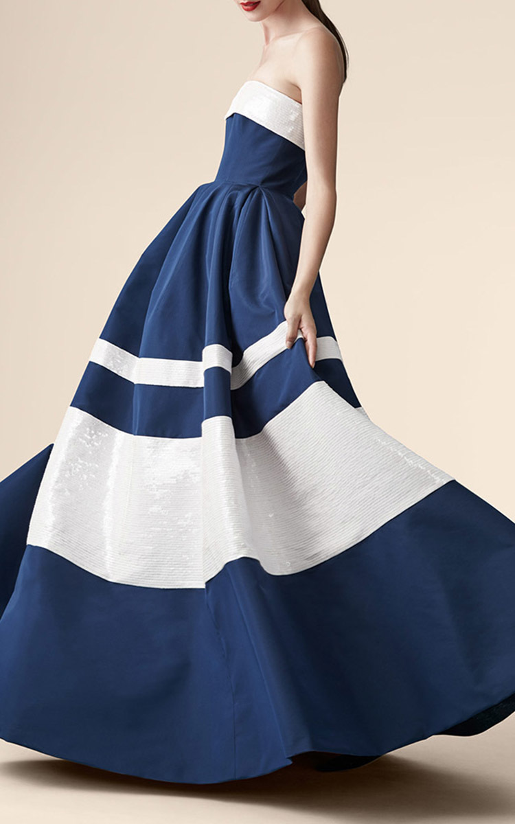 Strapless Striped Ball Gown By Carolina Herrera Moda Operandi