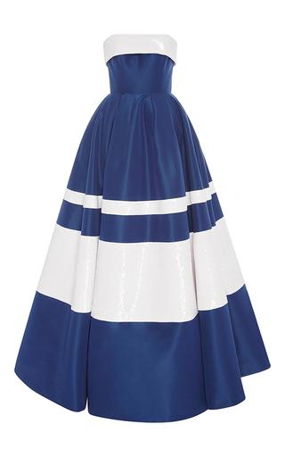 Medium carolina herrera stripe strapless striped ball gown