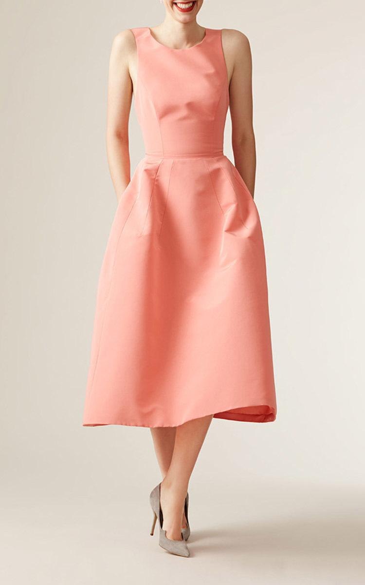 e15ddd0bef18f Sleeveless A Line Midi Dress by Carolina Herrera | Moda Operandi