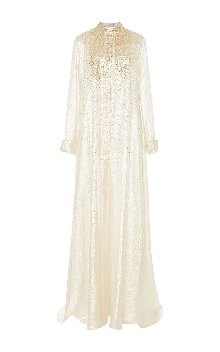 Long Sleeve Caftan Shirt Dress Carolina Herrera Ksc8af