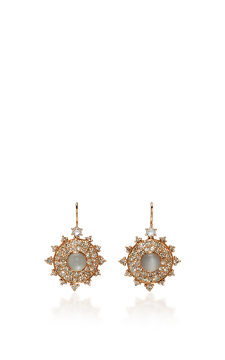 Medium nam cho gold champagne bull s eye earrings