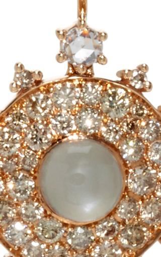 Champagne Bull's Eye Earrings by NAM CHO Now Available on Moda Operandi