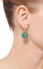 Emerald Bull's Eye Earrings by NAM CHO Now Available on Moda Operandi