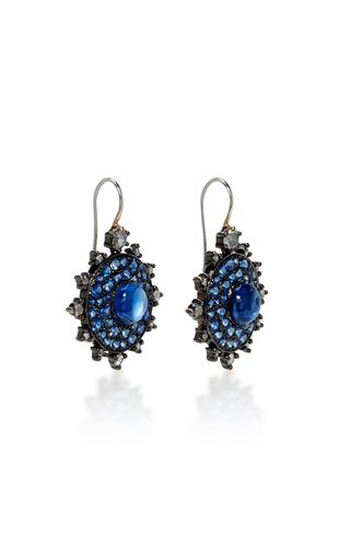 Sapphire Bullseye Earrings by NAM CHO Now Available on Moda Operandi