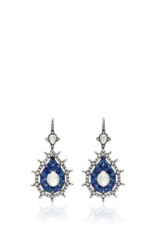 Medium nam cho blue blue sapphire drop earrings