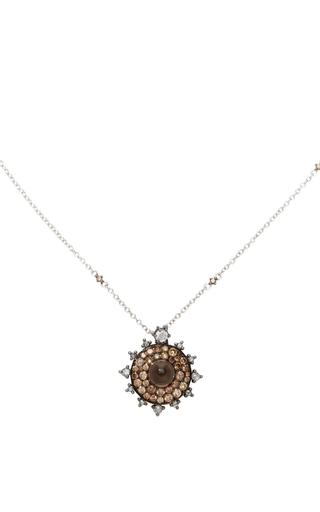 Medium nam cho brown chocolate diamond bullseye necklace