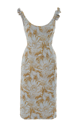 Medium brock light blue daisy pencil dress