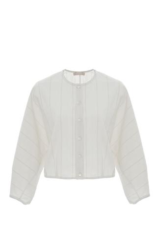 Medium brock stripe thierry lantern blouse