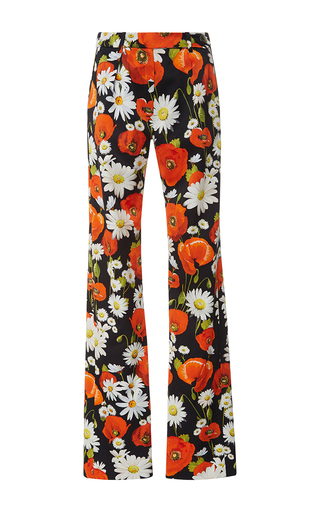 Medium alexis mabille black silk poppy relaxed pants