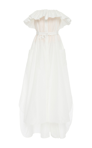 Medium alexis mabille white froufrou strapless dress