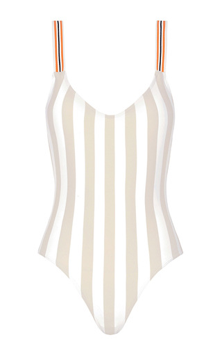 Medium rye nude zsa zsa striped one piece swimsuit