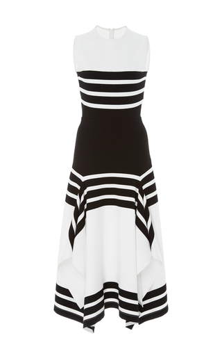 Medium rosetta getty stripe sleeveless striped midi dress