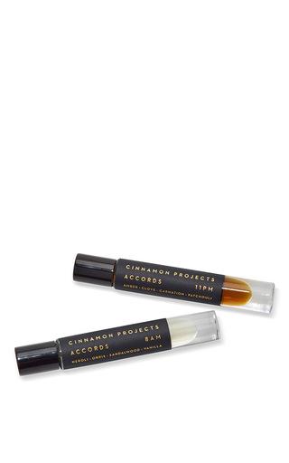 Medium cinnamon projects black accords perfume oil duo set