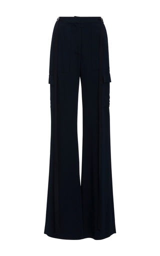Medium adeam navy suiting flared cargo trousers