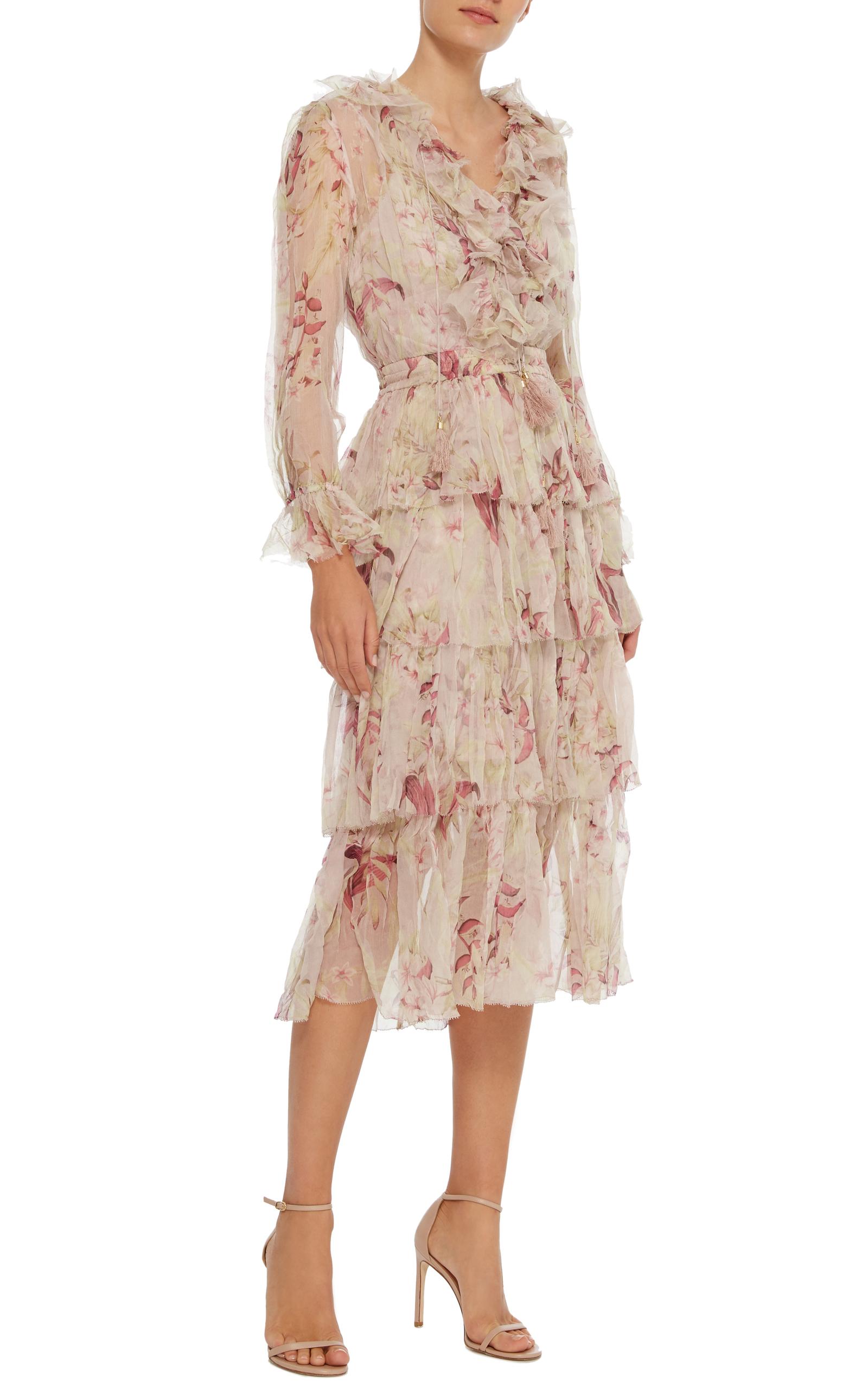 62e7a0ff35597 ZimmermannWinsome Ruffled Midi Dress. CLOSE. Loading