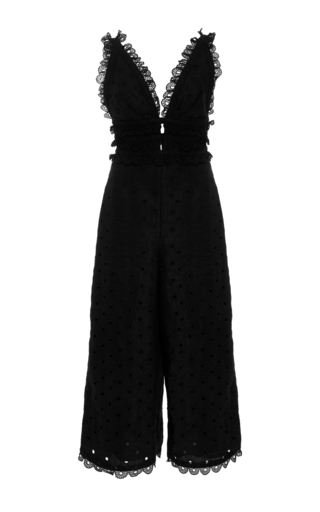 Medium zimmermann black winsome eyelet jumpsuit