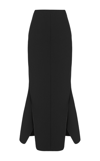 Medium maticevski black vault pencil flair skirt 2