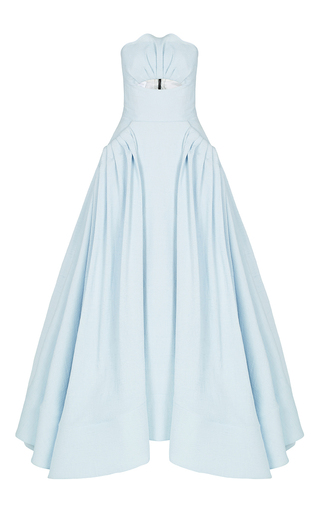 Medium maticevski blue ascertain gown