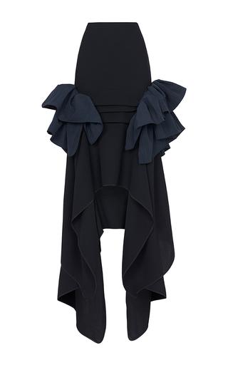 Medium maticevski black underworld ruffle skirt