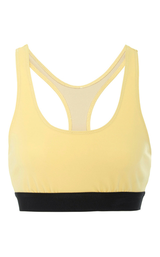 Medium rochelle sara yellow anna sporty bikini top
