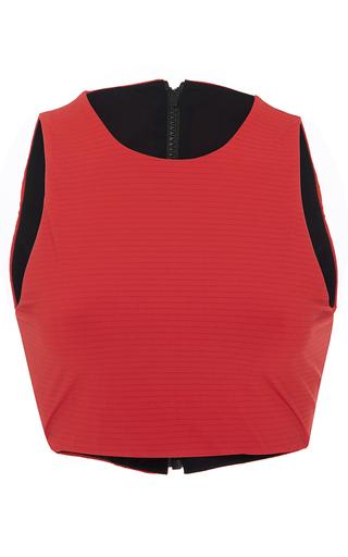 Medium rochelle sara red mc ribbed bikini top