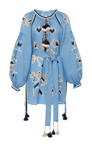 Medium march11 blue blue flora embroidered mini dress