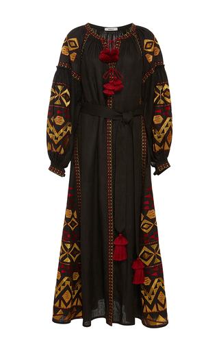Medium march11 black black kilim midi dress