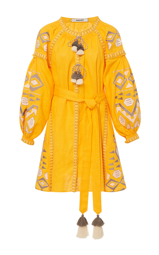 Medium march11 yellow yellow kilim mini dress