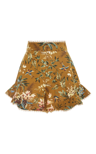 Medium zimmermann floral tropical floral flutter shorts