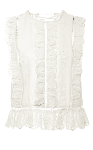 Medium zimmermann white broderie anglaise top
