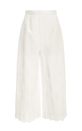 Medium zimmermann white broderie anglaise culottes