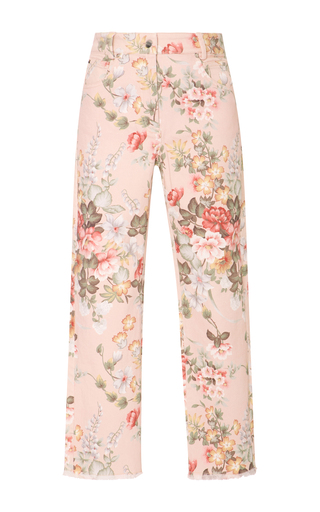Medium zimmermann floral floral print cropped jeans