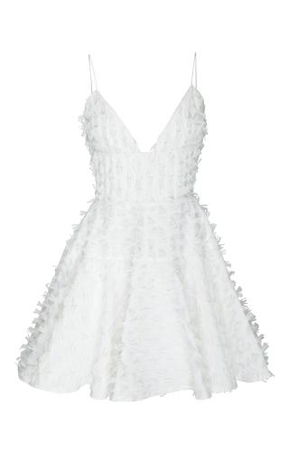 Medium alex perry white the reese raffia bikini flip mini dress